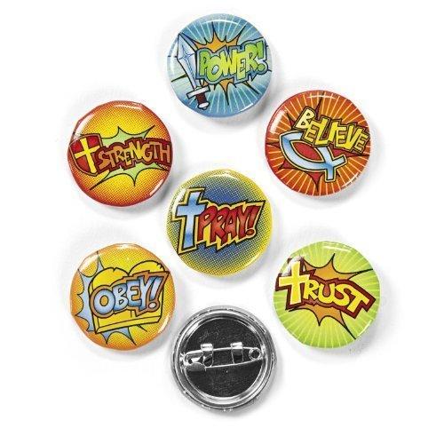 Fun Express Fantastic Faith Mini Buttons Novelty (4 Dozen) (Religious Novelties)