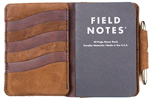 Form Function Form Men's Field Notes Wallet Tobacco Suede Mustang/Brass Pen by Form Function Form