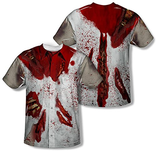 Shirt Catwoman Costume T (Ripped Zombie Costume Tee (Front/Back Print) T-Shirt Size)