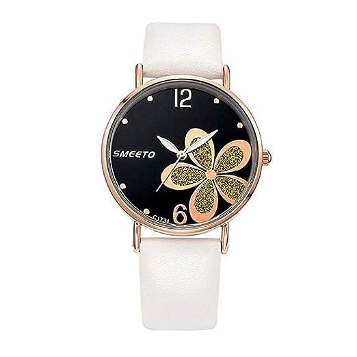 Nuevo Reloj para Mujer,Scpink Bonitos Flor Popular Brillante Lente de Cristal Dial Digital Lujo Reloj de Cuarzo Caja Redonda de Acero Inoxidable Elegante ...