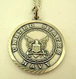 Mens Nickel Silver United States Military Medal with Christ Back, 1 Inch