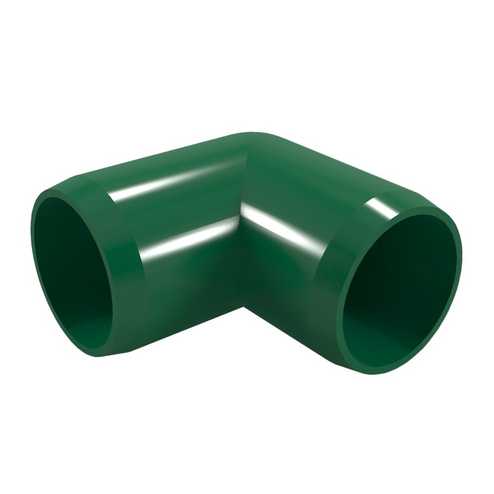 """FORMUFIT F03490E-GR-8 90 degree Elbow PVC Fitting, Furniture Grade, 3/4"""" Size, Green (Pack of 8)"""