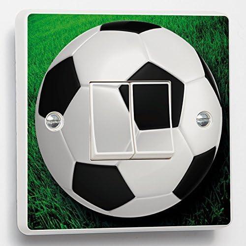 Fútbol Interruptor Pegatina verde balón de fútbol pegatina vinilo ...