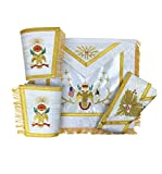 Masonic SCOTTISH RITE 33rd Degree A.A.S.R Apron Set Apron,Collar & gauntlets