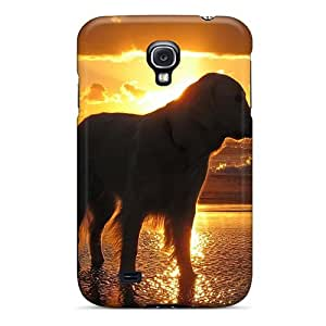 Excellent Galaxy S4 Case Tpu Cover Back Skin Protector Retriever At Sunset