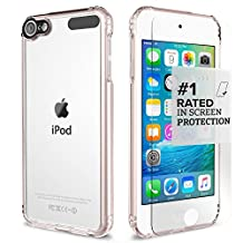 Apple iPod Touch 6th & 5th Generation Case, (Rose Gold Clear) SaharaCase® Protective Kit includes [ZeroDamage® Tempered Glass Screen Protector] Shock-Absorbing Bumper, Scratch-Resistant Hard Back