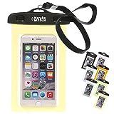 Naruba Media Waterproof   wasserdichte Handyhülle für alle Smartphones bis zu 6 Zoll  19,5 x 11,5 x 1,2 cm  inklusive Gurt und Schnellverschluss  Gelb