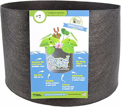 - Smart Pots Pond Flexible Aquatic Plant Container for Water Gardening, 7 Gallon