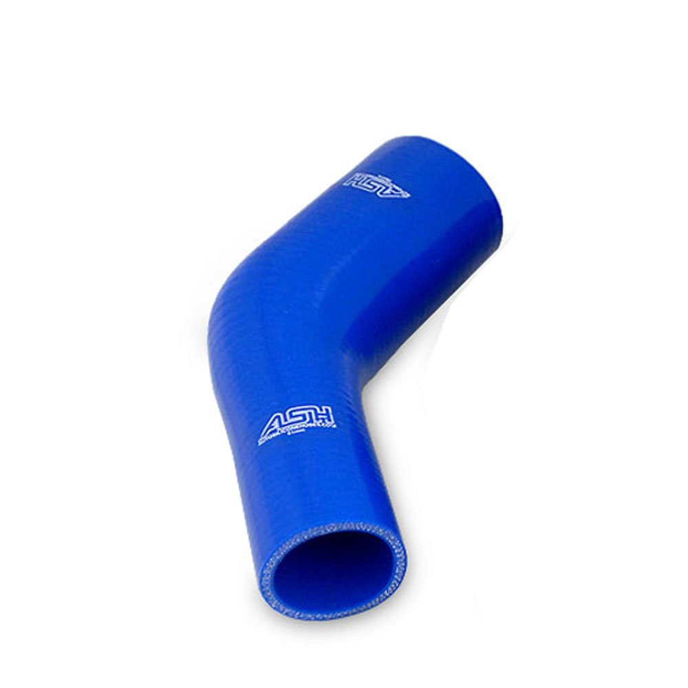 57mm ID Blue 45 Degree Silicone Elbow Reducing Hose 63mm AutoSiliconeHoses