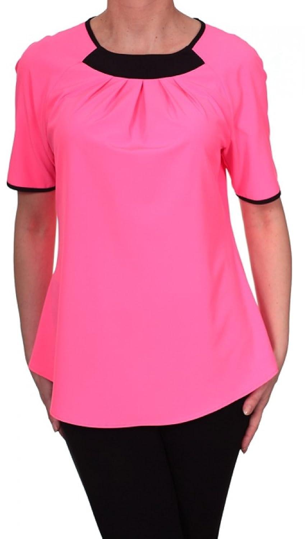 Damen Bluse 12-Arm mit Farbblockdesign Leichtes Material Gr. 40-52