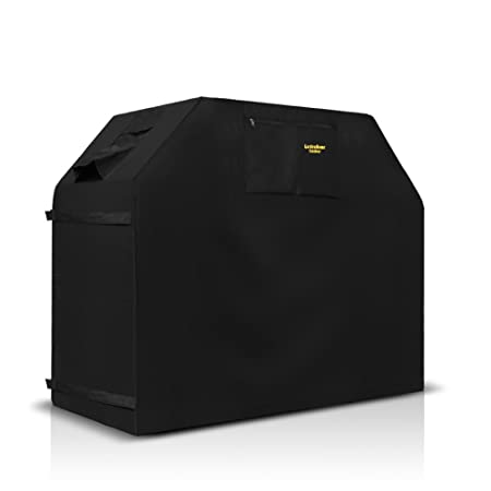 Air Vents Heavy Duty burner gas BBQ grill Cover Unique Home Grill Cover Up to 58 Wide Water Resistant Elastic hem cord Padded Handles