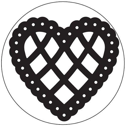 Martha Stewart Large Punch, Lace Scalloped Heart
