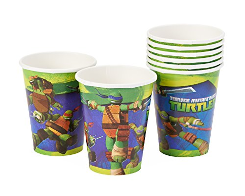 American Greetings Totally Tubular Teenage Mutant Ninja Turtle Birthday Party Paper Cups , 9 Ounces, Pack of 8