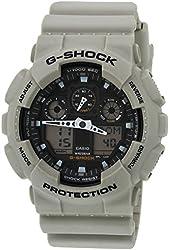 Mens Watch Casio GA100SD-8A G-Shock G-Shock Chronograph Desert Tone Plastic Resi