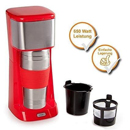 Café cafetera para 400 ml de café de acero inoxidable vaso térmico, de 650 Watt