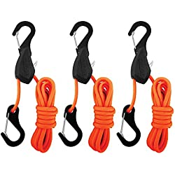 ProGrip Better Than Bungee 056370 Orange 6' Tie Down, 3 Pack