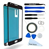 SAMSUNG GALAXY NOTE 1 N7000 i9220 BLACK DISPLAY TOUCHSCREEN REPLACEMENT KIT 12 PIECES INCLUDING 1 REPLACEMENT FRONT GLASS FOR SAMSUNG GALAXY NOTE 1 / 1 PAIR OF TWEEZERS / 1 ROLL OF 2MM ADHESIVE TAPE / 1 TOOL KIT / 1 MICROFIBER CLEANING CLOTH / WIRE