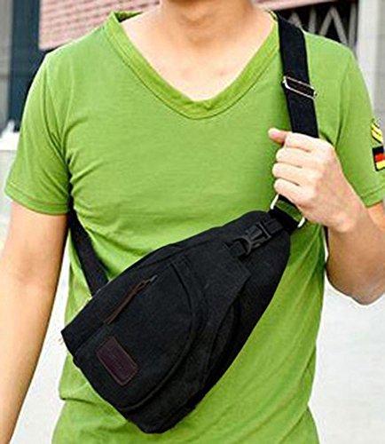 hombro de bolsa bolso de deporte de Bolsa Nabati Mens pecho TM Crossbody lona negro Nabati color paquete de qtwA048S