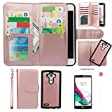 Case for G G4, xhorizon TM FLK Premium Leather Folio Wallet Magnetic Detachable Removable Wristlet Purse Multiple Card Slots Cover for LG G4 with 9H Tempered Glass Film