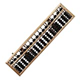 LeaningTech Vintage Style Wooden Abacus Soroban Calculator 17 Colomn with Reset Button for School Office Calculation Calculating Tool