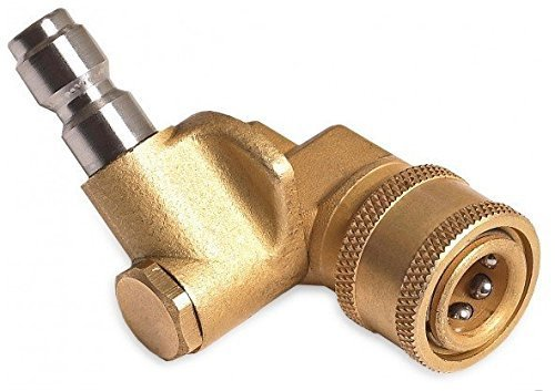 Quick connecting pivoting coupler for pressure washers nozzles cleaning high-pressure to get hard to reach areas 4000PSI 1/4'' plug by Water Power