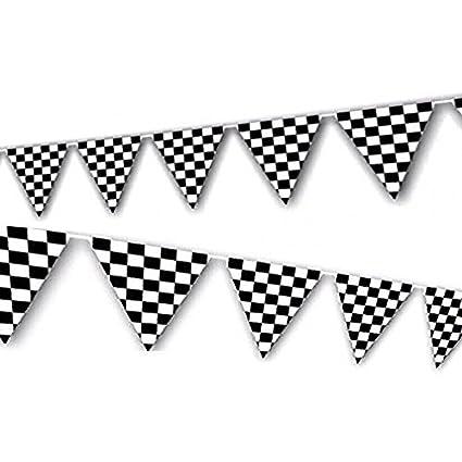 9b93dabdf1f Amazon.com  Adorox 100ft Checkered Black and White Flags Racing Kids ...