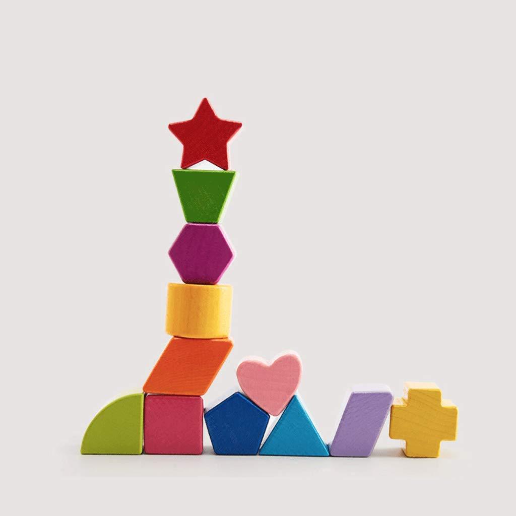 Baustein-Form-zusammenpassendes Puzzlespiel-frühes Bildungs-Geschenk-Spielzeug (Farbe     Building block, größe   12 holes) c53c40