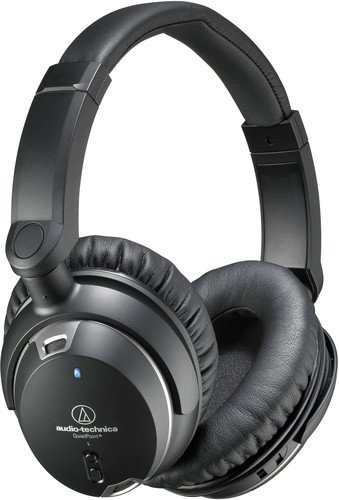 Audio Technica ATH-ANC9 QuietPoint Noise-Cancelling Headphones - Home Audio Noise Canceling Headphones