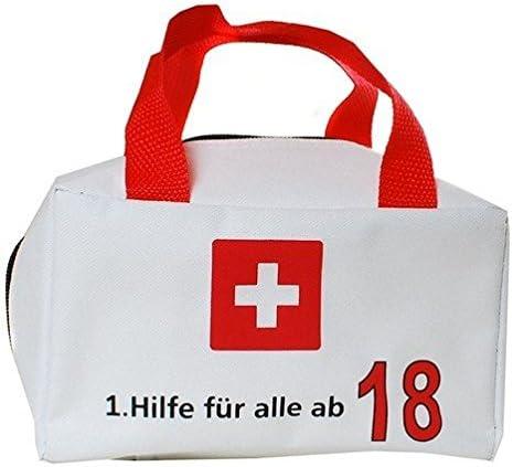 TASCHE 1 HILFE FÜR ALLE AB 18  GESCHENKARTIKEL 18.GEBURTSTAG PARTY ZUM BEFÜLLEN