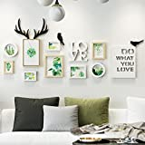 ALUS- 8 Multi Photo Frames Set Bedroom Restaurant Wall Photo Picture Wall Frame Modern Minimalist Photo Frames Wall ( Color : B )