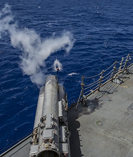 Home Comforts The Arleigh Burke-Class guided-missile destroyer USS McCampbell (DDG-85) fires an MK-54 exercise tor by Home Comforts