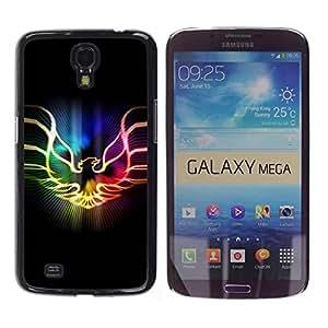 TopCaseStore / la caja del caucho duro de la cubierta de protección de la piel - Neon Flaming Phoenix - Samsung Galaxy Mega 6.3 I9200 SGH-i527