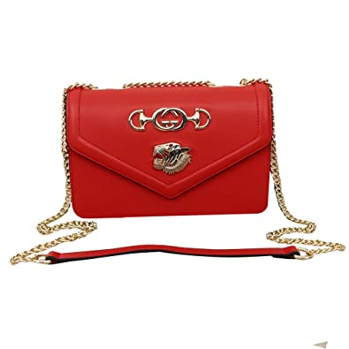abf928ab8c6 Image Unavailable. Image not available for. Color  Womens GG Rajah Medium  Shoulder Bag Leather ...