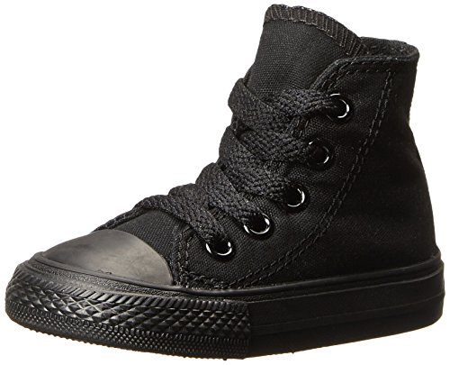 Chuck Taylor Hi All Black Star Converse Trainers Unisex Monochrome Children's gqv6dUnc
