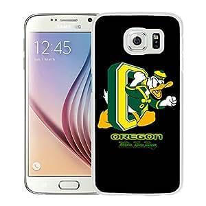 NCAA Pacific-12 Conference Pac-12 Football Oregon Ducks 14 White Fashion Customize Design Samsung Galaxy S6 G9200 Phone Case