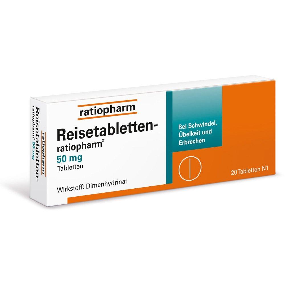 Reisetabletten-ratiopharm, 20 St.