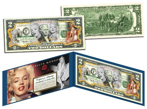 MARILYN MONROE *Multi-Image* Legal Tender U.S. $2 Bill * OFFICIALLY LICENSED * ()
