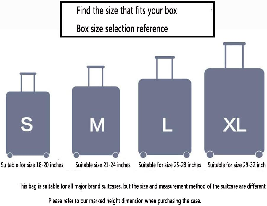 AZUO Housse de Protection pour Bagages Lavable et protectrice pour Valise Protecteur de Valise en Spandex /élastique avec /étiquette pour Bagage Convient aux Bagages de 18 /à 32 Pouces,L