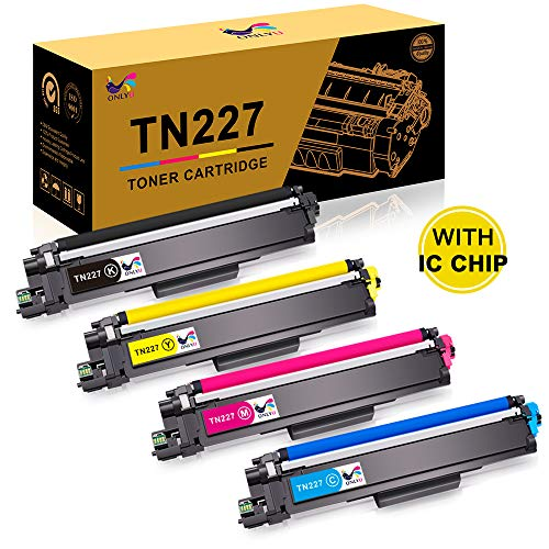 ONLYU [With Chip] Compatible Toner Cartridge Replacement for Brother TN227 TN-227 TN227BK TN223 TN 227 for HL-L3210CW HL-L3230CDW HL-L3270CDW HL-L3290CDW MFC-L3710CW MFC-L3750CDW MFC-L3770CDW - 4 ()