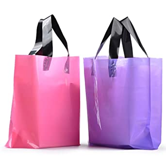 b75f2256bb Amazon.com  YookeeHome 100PCS Frosted Plastic Gift Bags