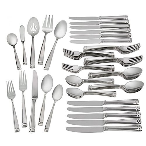 Waterford Conover 18/10 Stainless Steel 65-Piece Set, Service for 12 by Waterford  Fine Flatware
