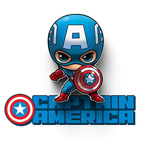 3DLightFX Marvel Avengers Captain America Mini 3D Deco ()