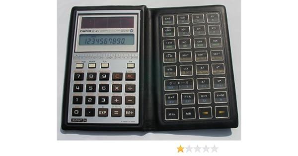Vtg casio fx-451 scientific solar-powered calculator & manual made.