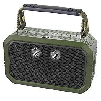 DOSS Traveler Waterproof Bluetooth Speaker, Portable Rugged Wireless Bluetooth Outdoor Stereo Speakers with 20W HD Sound, Bold Bass, 3W LED, 12H Playtime for Phone, Tablet, TV, and More -Green Wonders Tech Traveler-Green