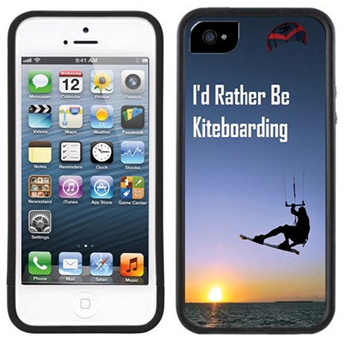Ich würde eher Kiteboarding | Handgefertigt | iPhone 5 5s | Schwarze Hülle