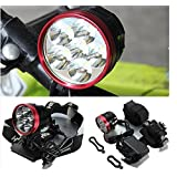 RioRand Bike Light 6800LM CREE XML 6T6 LED Bicycle Light HeadLight