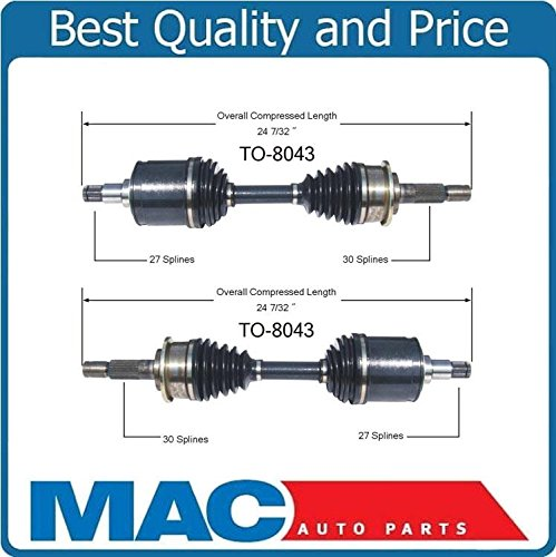 1996-2002 Toyota 4 Runner 1996-2004 Tacoma With Auto Lock TO-8043 (2) New Front CV Axle Shaft Mac Auto Parts