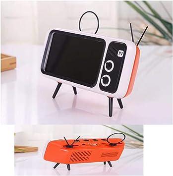 LJHLJH Altavoz Bluetooth Retro-Mini TV Modelo Soporte Altavoz ...