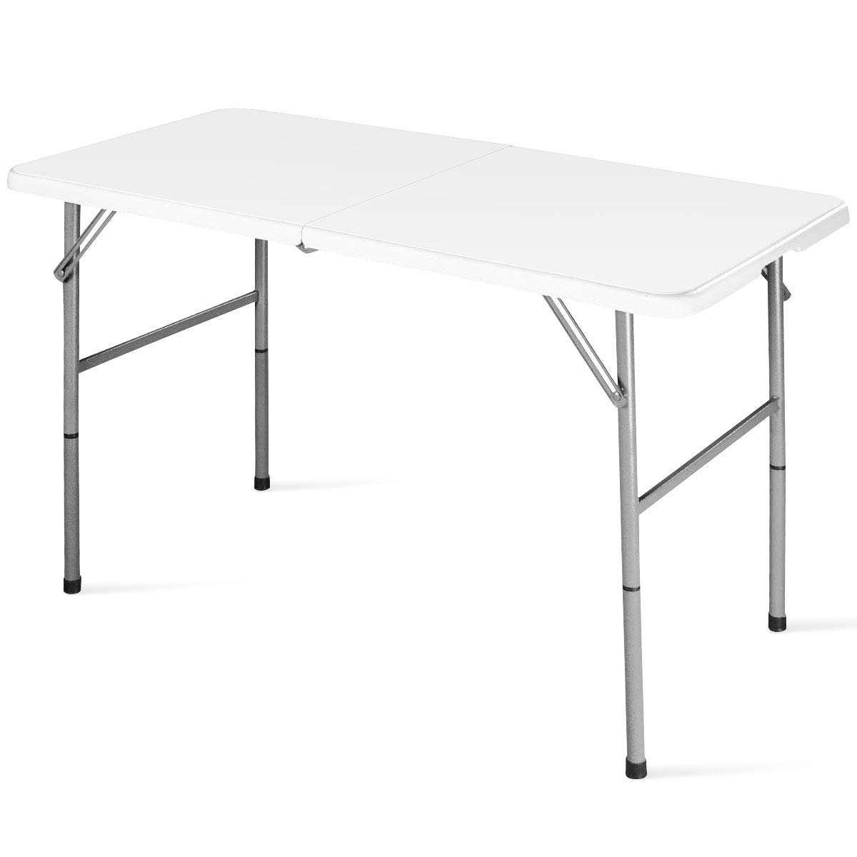 SPSUPE, White Portable Folding, Plastic Camp Tables, Ideal for Indoor Outdoor Picnic Party Dining by SPSUPE