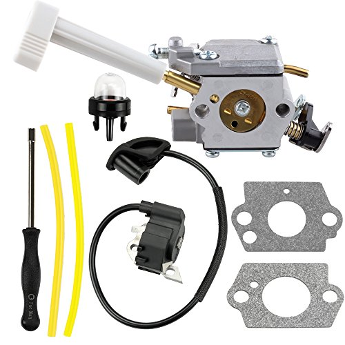 Harbot 308054079 Carburetor + 291424001 Ignition Coil Module Tool for Ryobi RY08420 RY08420A Backpack Blower by Harbot